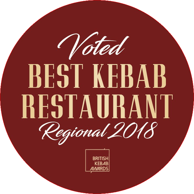 Voted Best Kebab Restaurant Regional 2018